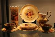 Sale 7998 - Lot 81 - Collection of Aynsley Orchard Gold China incl Vase, Plates Jug, etc