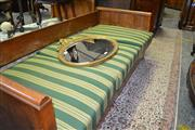 Sale 8093 - Lot 1755 - Biedermeier Style Fruitwood Daybed with Three Cushions