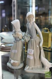 Sale 8226 - Lot 12 - Nao Lady Figures