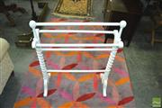 Sale 8337 - Lot 1071 - White Painted Timber Towel Rail