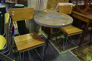 Sale 8532 - Lot 1121 - Three Piece Patio Suite with Table and Two Chairs
