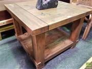 Sale 8550 - Lot 1440 - Tiered Timber Side Table