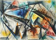 Sale 8858 - Lot 501 - Margot Lewers (1908-1978) - Abstraction 27 x 38 cm