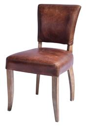 Sale 9010F - Lot 9 - A SET OF EIGHT TOP GRAIN WAXED LEATHER DINING CHAIRS H:105 W:76 D:50cm