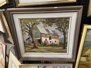 Sale 9045 - Lot 2079 - Malcolm Peryman The Ol Homestead oil on board (55 x 62cm) signed -