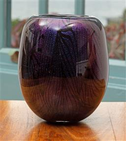 Sale 9191H - Lot 74 - Dichroic Vase by Sean O'Donoghue, Noosa Master Glassblower, trained at Waterford Crystal, H 15 cm