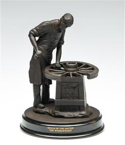 Sale 9255S - Lot 84 - Wedgwood The Wheelwright Limited edition 12 of 1000 by Colin Melbourne Height 26cm