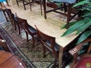 Sale 8601 - Lot 1026 - Recycled Oak Retro Style Dining Table (H:74 L:220 W:89cm)
