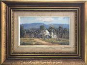 Sale 8784 - Lot 2017 - Artist Unknown - Cottage, Kurrajong, oil on board, 30 x 40cm (frame) signed Evans lower left