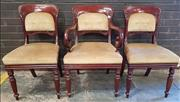 Sale 8976 - Lot 1042 - Good Set of 10 William IV Mahogany Dining Chairs, including two armchairs, the backs with re-inforced design uprights & carved with...