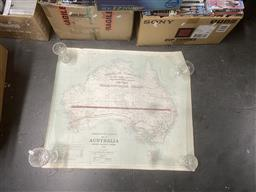Sale 9106 - Lot 2321 - Commonwealth Railway Map of Australia: Showing Railway Systems of 1968 (some condition issues)