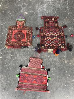 Sale 9121 - Lot 1071 - Three varied pieces of Persian hand knotted pure wool salt bags (50 x 30cm)