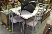 Sale 7981A - Lot 1073 - Kitchen Table w Set of 6 Dining Chairs