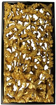 Sale 8004 - Lot 48 - Chinese Gilt Timber Carved Panel