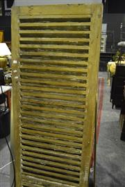Sale 8058 - Lot 1072 - Pair of Timber Shutters - Made In New Caledonia