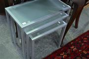 Sale 8115 - Lot 1146 - Nest of 3 Glass Top Tables