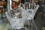 Sale 8256 - Lot 14 - Orrefors Crystal Pair of Bowls