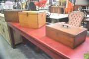 Sale 8302 - Lot 1037 - 3 Vintage Timber Boxes