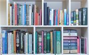 Sale 8800 - Lot 206 - Six bays of various fiction and non-fiction books, predominantly gardening and decorating inc Neville Cayleys What Bird is That