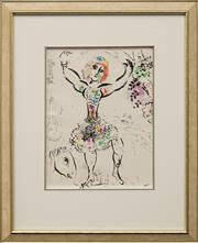 Sale 8645 - Lot 2055 - Marc Chagall (1887 - 1885) Print - Woman Juggler 30 x 22.5cm