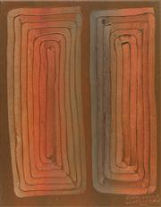 Sale 8708A - Lot 588 - Rosella Namok (1979 - ) - Twin Sisters, 2001 66.5 x 54cm (stretched and ready to hang)