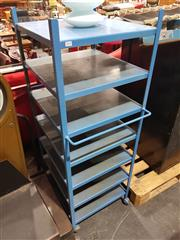 Sale 8723 - Lot 1018 - Metal Industrial S7 Tier Stand