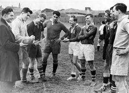 Sale 9082A - Lot 5115 - The Wallabies Players, 1950 - Players T. Allen, B. Mossop, D. Brockhoff, N. Shehadie, N. Cottrell, J Solomon, I. McMillan, K. Gordon...
