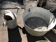 Sale 8801 - Lot 1508 - Metal Champagne Bucket With Watering Can