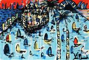 Sale 8968A - Lot 5018 - Yosi Messiah (1964 - ) - My Colourful Harbour 75 x 100 cm