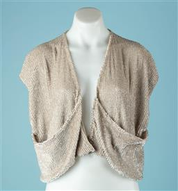 Sale 9027F - Lot 13 - A Lucette short sleeve bolero jacket embellished all over in Iridescent sequins, Size 0