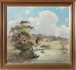 Sale 9190H - Lot 270 - Ernest Buckmaster `Rural Views, Oil on canvas, 48x53cm`Signed & dated 1932 lower right.
