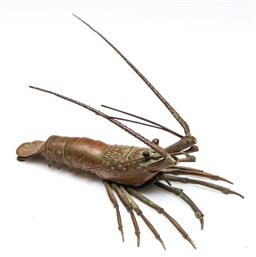 Sale 9255S - Lot 86 - A Reticulated Meiji small bronze lobster Length 20cm