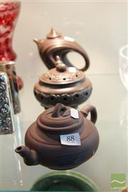 Sale 8217 - Lot 88 - Chinese Terracotta Teapots