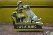 Sale 8312 - Lot 1018 - Cast Iron Money Box of Speaking Dogs