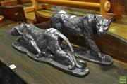 Sale 8523 - Lot 1042 - Pair of Leopard Statues