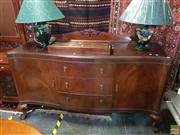 Sale 8566 - Lot 1336 - Mahogany Veneered Sideboard (180 x 60 x 100)