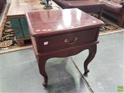 Sale 8593 - Lot 1052 - Single Timber Single Drawer Bedside