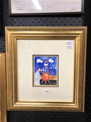 Sale 8779 - Lot 2005 - Greg Hyde, The Picnic 1996, watercolour, frame size: 35 x 32cm, signed lower right