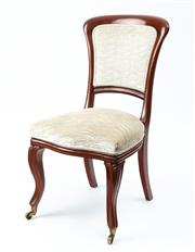 Sale 9044J - Lot 15 - A rare set of 12 antique mahogany Irish Dublin chairs impressed 70233 and J. Kerr,  C: 1860. The pad backs and seats upholstered in ...