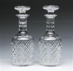 Sale 9093 - Lot 76 - Pair of Stuart Crystal Decanters (H27cm)