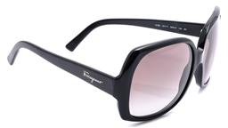 Sale 9132 - Lot 568 - A PAIR OF SALVATORE FERRAGAMO 2166 SUNGLASSES; black frame with gradient grey lenses, size 56-14, 135, good condition, comes with ha...