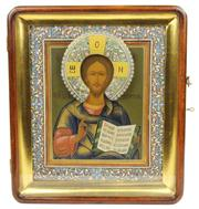 Sale 7974 - Lot 95 - Russian Icon of the Christ Pantokrator
