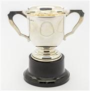 Sale 8284A - Lot 73 - An Australian hallmarked sterling silver trophy cup, Fairfax & Roberts C: 1930's (Not engraved)