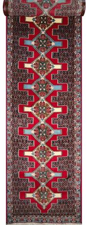 Sale 8323C - Lot 23 - Persian Sanandau 386cm x 90cm RRP $2000