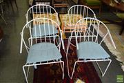 Sale 8532 - Lot 1268 - Set of Four Metal Framed Chairs
