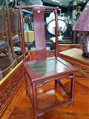 Sale 8740 - Lot 1175 - Chinese Red Lacquered High Back Chair