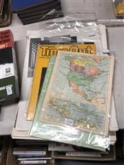 Sale 8759 - Lot 2308 - Collection of Vintage Papers incl Maps, Time Out, Doom Comic, Art Prints etc