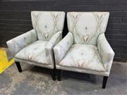 Sale 9034 - Lot 1023 - Pair of Fabric Armchairs (h:87 x w:63cm)