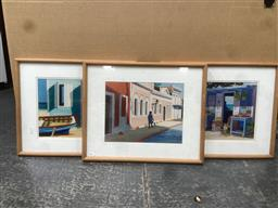 Sale 9094 - Lot 2051 - Shari Erikson (3 works) Carribean Town Scenes limited edition giclees,53 x 44cm, each (frame) signed lower