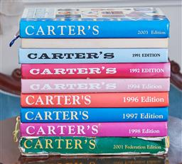 Sale 9103M - Lot 504 - A collection of Carters price guide reference books.